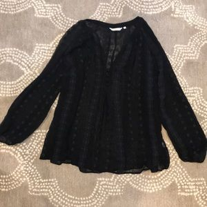 Sheer black Anthropologie blouse